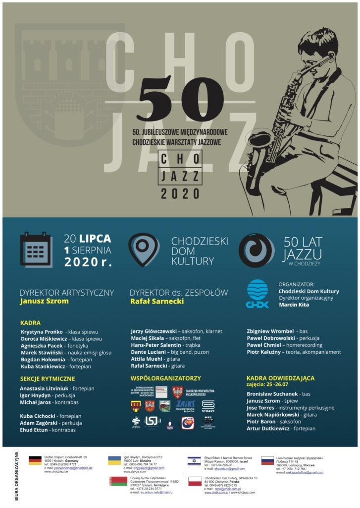 Cho-Jazz 2020 - Plakat Rekrutacyjny